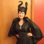 Kim in Malificent Costume