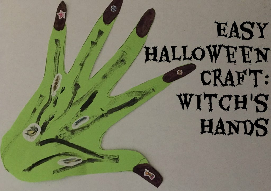 Easy Halloween Craft: Witch's Hands