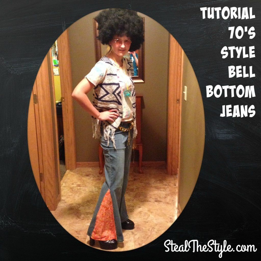 Tutorial 70's Style Bell Bell Bottom Jeans