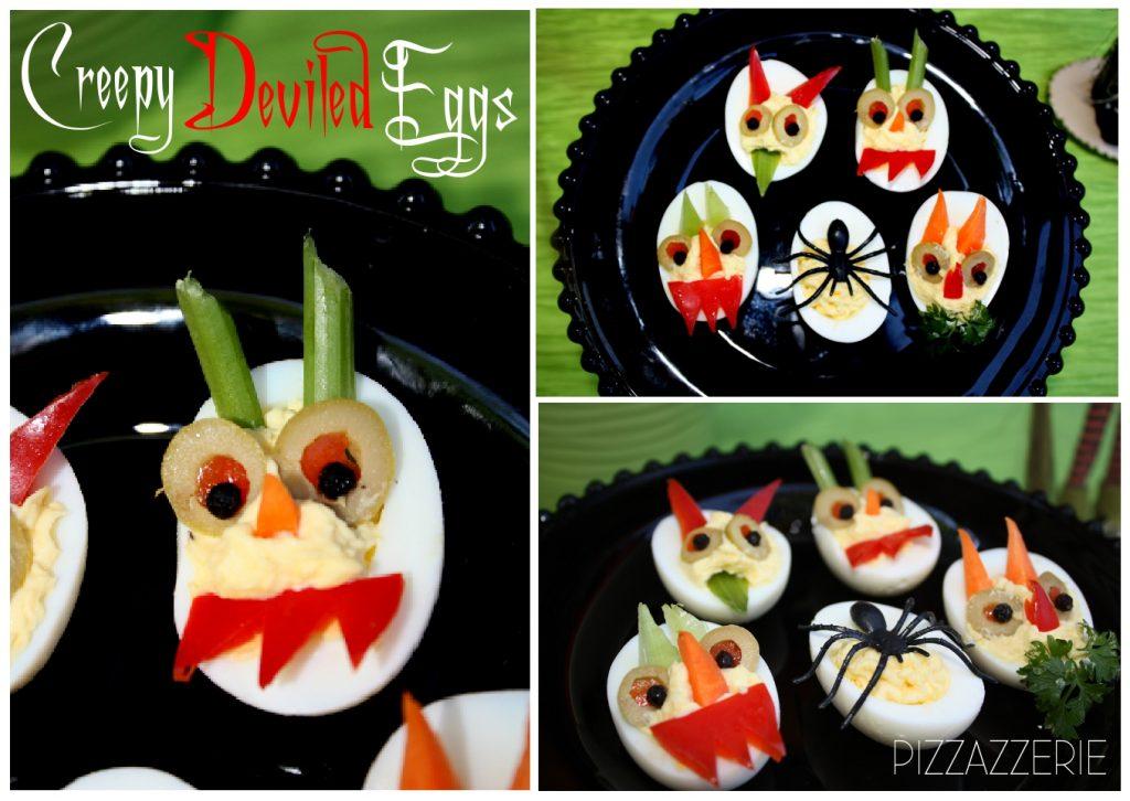 Creepy Deviled Eggs