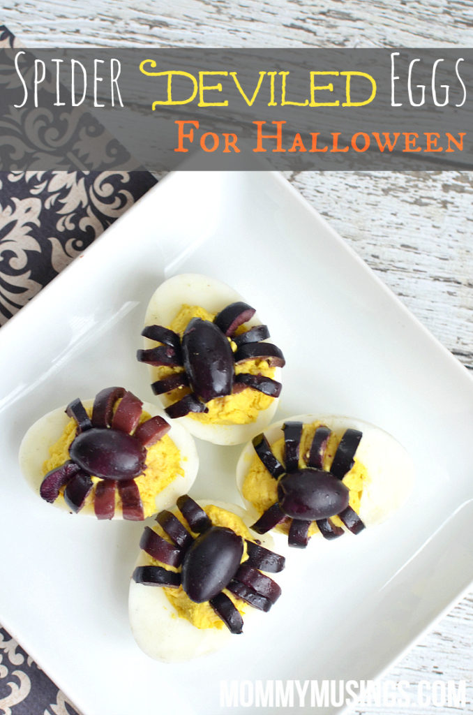 Spider Deviled Eggs for Halloween Recipe