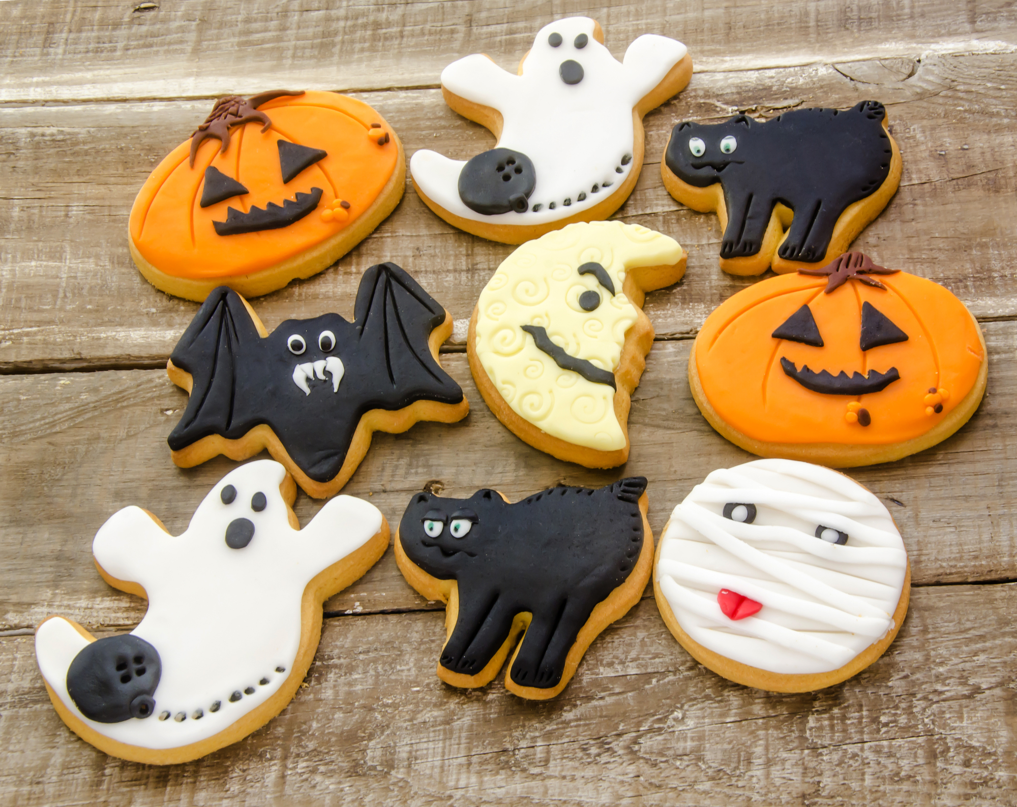 Halloween Frosted Cutout Sugar Cookies