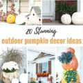 20 Outdoor Pumpkin Decor Ideas